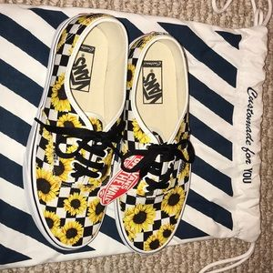 Vans Shoes - NEVER WORN Custom Sunflower Vans